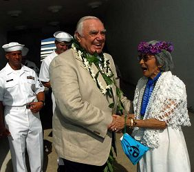 Ernest Borgnine, Pearl Harbor December 2003